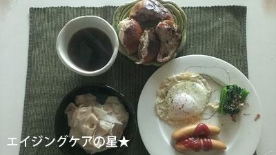 ローソンフレッシュさんの「お試しセット」を使用した朝食2