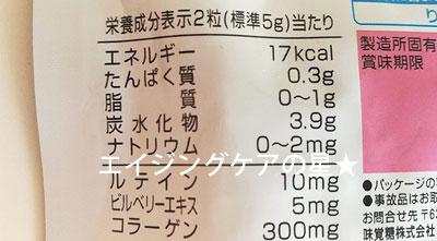 [UHA]グミサプリ ルテインの成分は?